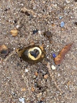 Heart pebble